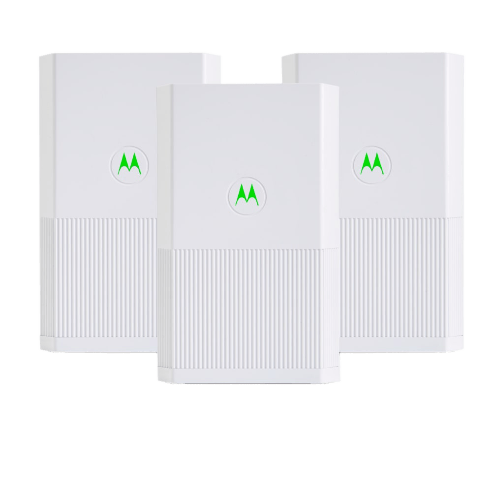 Motorola MH7023 Whole Home Mesh WiFi System (3-Pack, 1 Router and 2 Satellites)